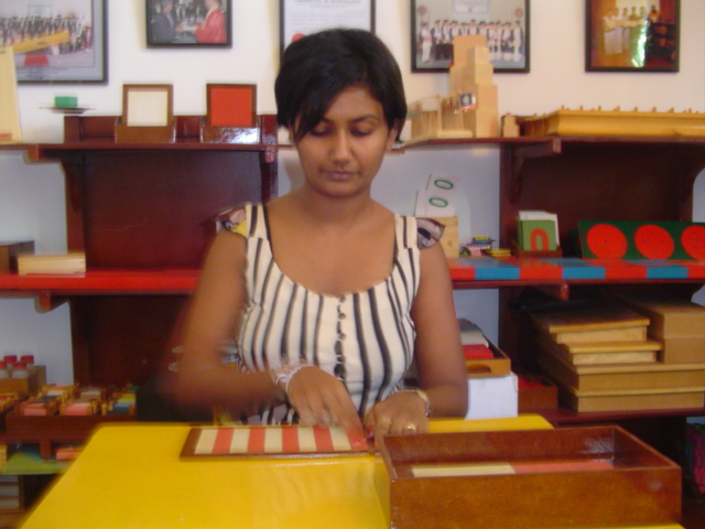 Sri lankan montessori teacher